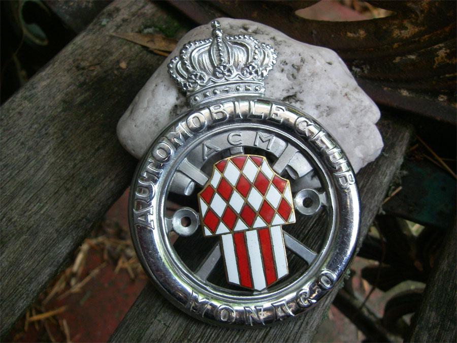 acm automobile club monaco monte carlo 1930 1950 plakette badge emblem ebay. Black Bedroom Furniture Sets. Home Design Ideas