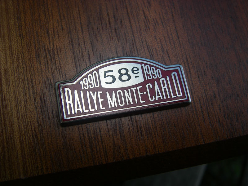 rallye monte carlo 1990 acm monaco centenary car badge. Black Bedroom Furniture Sets. Home Design Ideas