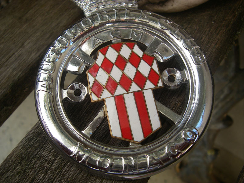 acm automobile club de monaco 1930s 1950s car grille radiator badge ebay. Black Bedroom Furniture Sets. Home Design Ideas