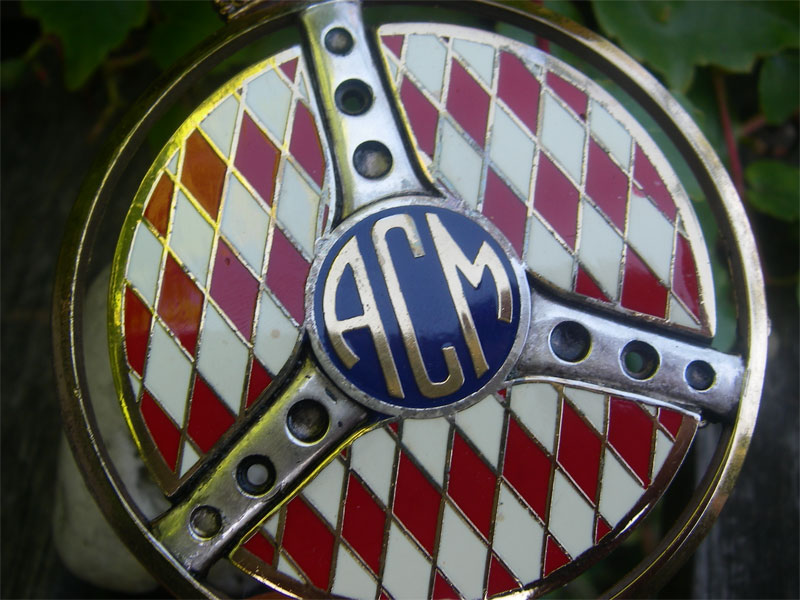 acm automobile club de monaco car grille radiator badge nos. Black Bedroom Furniture Sets. Home Design Ideas