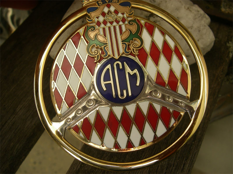 acm automobile club de monaco monte carlo placca badge emblema raro ebay. Black Bedroom Furniture Sets. Home Design Ideas