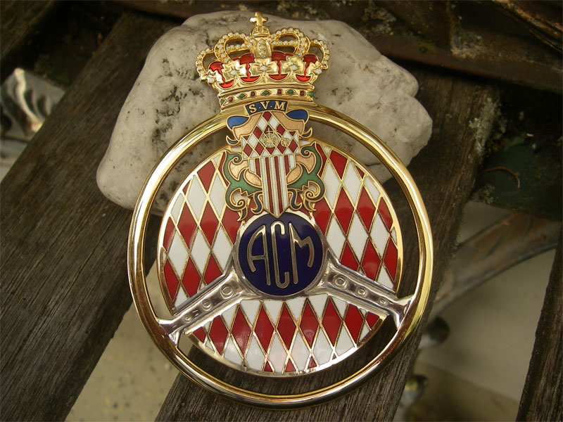 acm automobile club monaco monte carlo plaque badge embl me rare. Black Bedroom Furniture Sets. Home Design Ideas