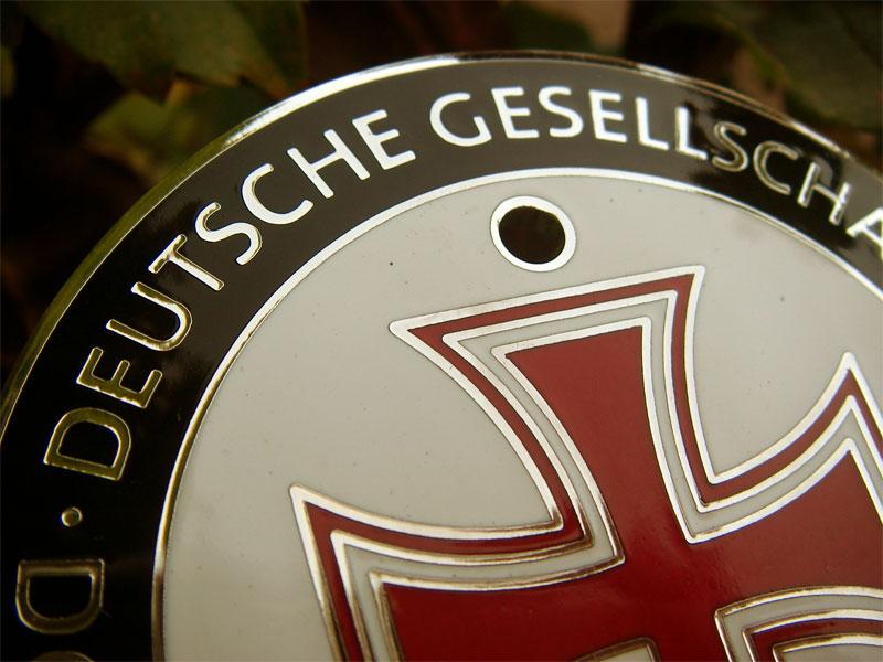 Porsche Benz Vw Bmw Audi German Redcross Enamel Badge Ebay