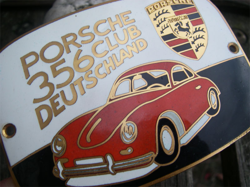porsche 356 club deutschland member badge rare ebay. Black Bedroom Furniture Sets. Home Design Ideas
