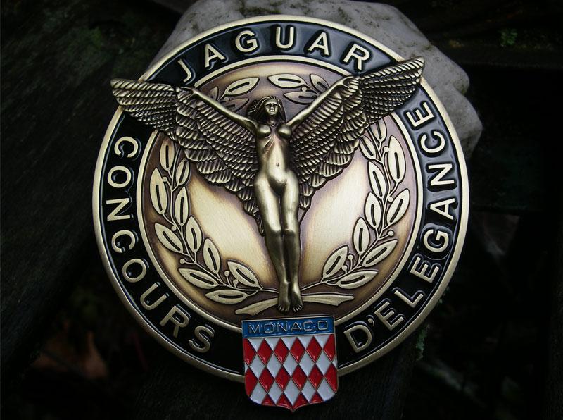 Jaguar concours Monaco badge insigne-XJ 6 12 MK II X XK SS