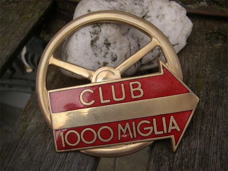 Club 1000 Miglia Mille Miglia Franco Mazzotti Car Badge
