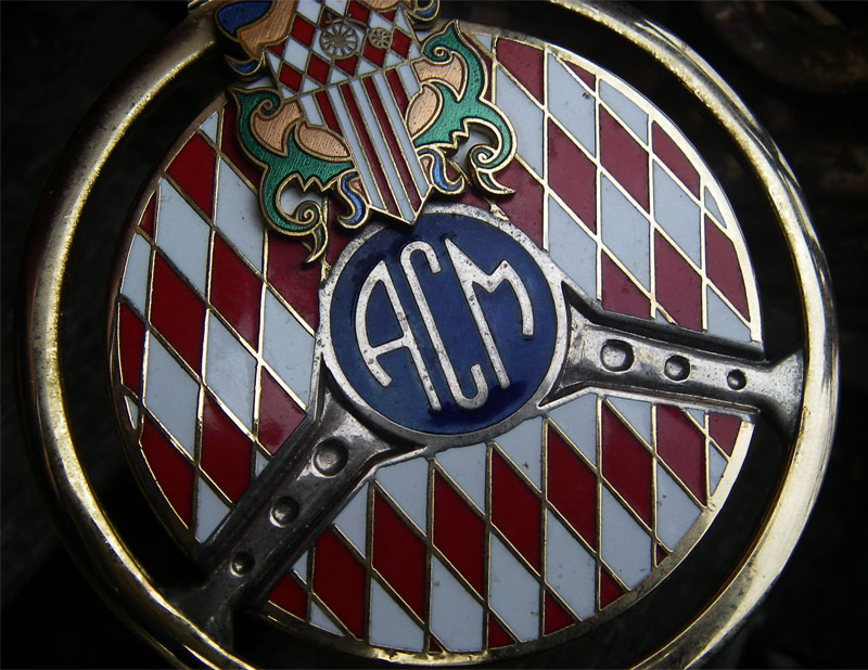 porsche benz vintage acm automobile club monaco badge ebay. Black Bedroom Furniture Sets. Home Design Ideas