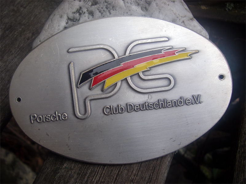 porsche club deutschland member badge 356 911 912 ebay. Black Bedroom Furniture Sets. Home Design Ideas